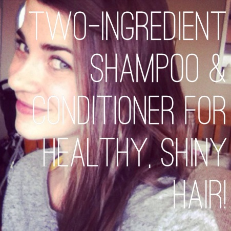 Two-ingredient shampoo & conditioner for healthy, shiny hair! #SweetMadeleine #AllYouNeedIsLess
